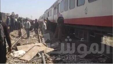 صورة السكة الحديد : مجهولون وراء انقلاب قطارى سوهاج