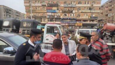 صورة رئيس جهاز مدينة 6 أكتوبر يقود حملة لضبط المخالفات ورفع الإشغالات بمنطقة الحصري