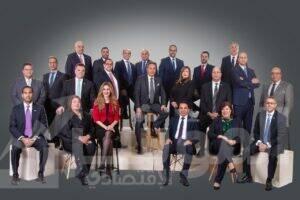 رئيس مجلس الإدارة ورؤساء قطاعات البنك