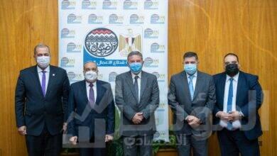 """صورة """"توفيق"""" و""""مرسي"""" و""""التراس"""" يشهدون توقيع بروتوكولات تعاون في مجال توريد الأخشاب"""