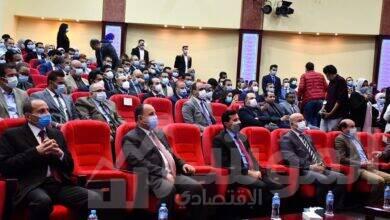 صورة وزيرا الشباب والمالية يفتتحان مؤتمر الشباب والبنوك