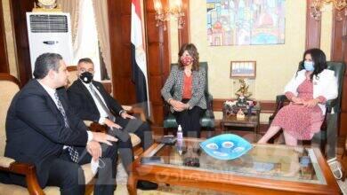 صورة وزيرة الهجرة تدعو لحوار مشترك بين شباب النواب بالبرلمان المصري واليوناني والقبرصي