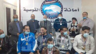 صورة تكريم الفائزين في بطولتي الشطرنج وتنس الطاولة بالقوصية