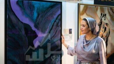 صورة يسرا وهبة تعود إلي معرض فنون العالم بدبي للمرة الثانية