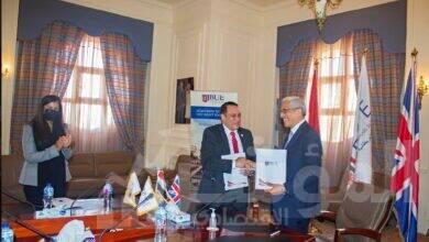 """صورة الجامعة البريطانية توقع بروتوكول تعاون مع """"الريف المصري"""".. وتدعمها بتوربينات توليد الكهرباء"""