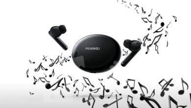 صورة سماعاتHUAWEI FreeBuds 4iوتطبيقHuawei Musicيوفران تجربة استماع فريدة بصوت فائق الجودة