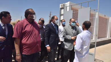 صورة محافظ أسيوط يتفقد اعمال إنتهاء الملاحظات مشروع صرف صحى ديروط