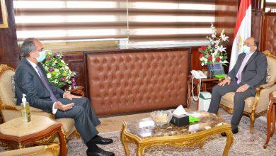 """صورة """" شعراوي """" و """" طلعت """"  يبحثان مجالات التعاون المشترك ضمن المبادرة الرئاسية """"حياة كريمة """""""