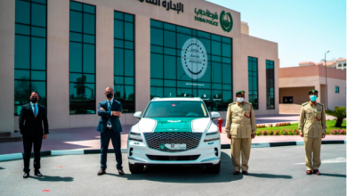 """صورة جمعة الماجد تعزز أسطول شرطة دبي بسيارة """"جينيسيسGV80"""""""