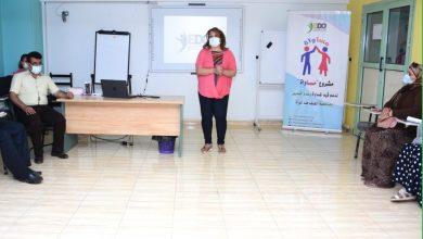 صورة دعوة لدعم قيم المساواة مناهضة العنف ضد المرأة بالتنمية الإيبارشي بأسيوط