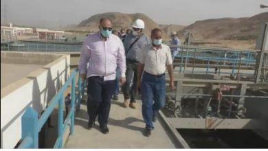 صورة محافظ أسيوط يتفقد محطة معالجة صرف صحي المشايعة