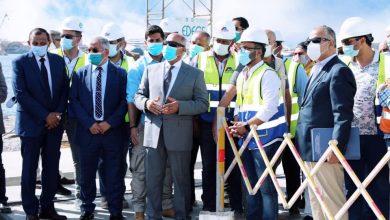 صورة وزير النقل يتابع معدلات تنفيذالمشروعات الخدمية الجاري تنفيذها بميناء الإسكندرية