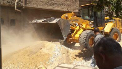 صورة ازالة 10 حالات تعدي على الأراضي الزراعية والبناء المخالف في أسيوط