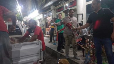 صورة ضبط ومصادرة 28 شيشة خلال حملة لتطبيق الاجراءات الاحترازية في أسيوط