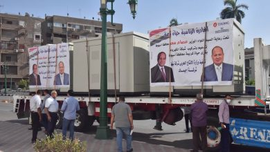 """صورة وصول سيارات محولات الكهربائية تمهيداً لتوزيعها على قرى """"حياة كريمة"""" بأسيوط"""