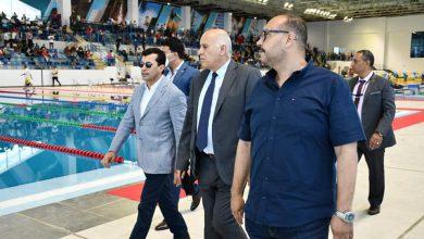 صورة وزير الرياضة ونظيره الفلسطينى يتفقدان المدينة الرياضية بالعاصمة الإدارية الجديدة