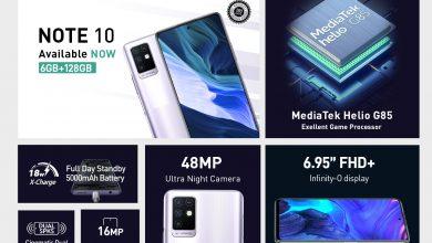 صورة Infinix Note 10 Pro يحتل صدارة الهواتف الأكثر تنافسية