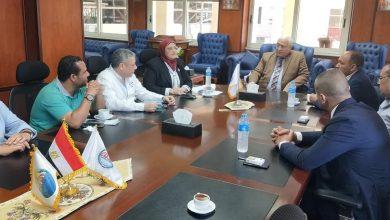 """صورة """" صحة النواب """" تلتقى رئيس جامعة مدينة السادات بشأن إنشاء مستشفى جامعى بمدينة السادات"""