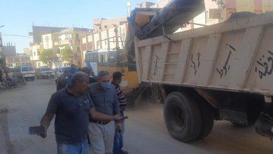 صورة حملات نظافة في أسيوط بإستخدام معدات شفط الأتربة الجديدة