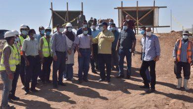 صورة محافظ أسيوط يضع حجر أساس توسعات محطة معالجة الصرف الصحي بالحبايشة
