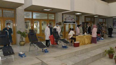 صورة حملة للتبرع بالدم في اليوم العالمي للتبرع بديوان عام محافظة أسيوط