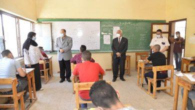 صورة محافظ أسيوط يتفقد بعض لجان امتحانات الدبلومات الفنية بمدارس الثانوية الميكانيكية
