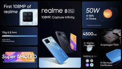صورة رسميا .. realme تطلق سلسلة realme 8 بكاميرا نقية 108MP فائقة التطور والأداء الرائد