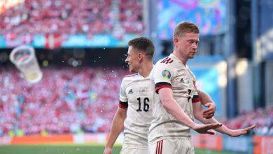 صورة «دي بروين» يضع منتخب بلجيكا بالدور الـ16 في يورو2020 بعد تخطي الدنمارك