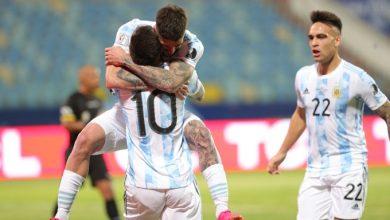 صورة الأرجنتين بقيادة ميسي تصعد لنصف نهائي كوبا امريكا بعد فوزها على الإكوادور