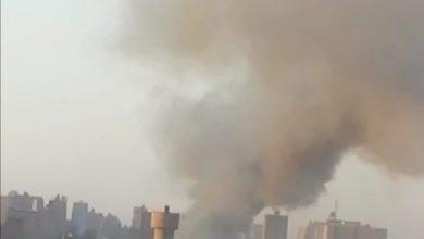 """صورة قبل قليل.. اندلاع حريق بمصنع """"جوارب"""" بشبرا الخيمة"""
