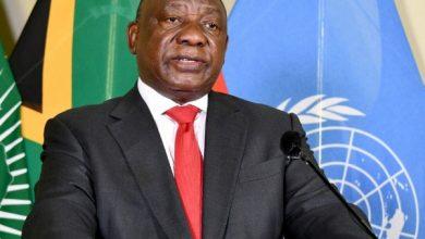 صورة رئيس جنوب إفريقيا يوجه رسالة للقطبي الجنوب إفريقي