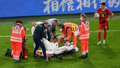 صورة اخر تطورات حالة سبينازولا عقب إصابته في مباراة بلجيكا