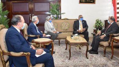 صورة وزير التنمية المحلية يبحث مع مدير برنامج الأغذية العالمي الجديد بالقاهرة مجالات التعاون الثنائى بين الجانبين
