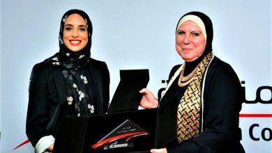 صورة وزيرة التجارة والصناعة تكرم البطلة الأوليمبية فريال أشرف وأسرتها