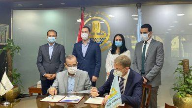 صورة توقيع بروتوكول تعاون بين محافظة كفر الشيخ ولافارج مصر