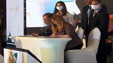 صورة توقيع مذكرة تفاهم بين المركز الإقليممي للتمويل المستدام والاتحاد المصري للتأمين