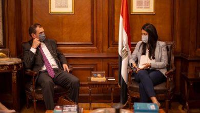 صورة المشاط تلتقي نائب رئيس البنك الأوروبي لإعادة الإعمار والتنمية