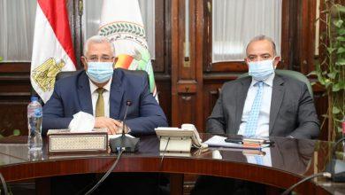 صورة وزير الزراعة ورئيس البورصة يبحثان سبل تطوير آليات تداول عدد من السلع الاستراتيجية من خلال البورصة السلعية