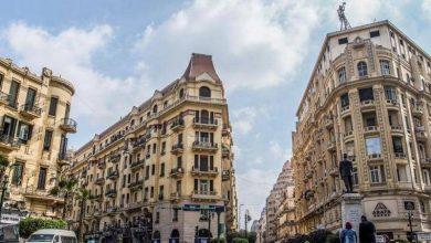 صورة استمرار أعمال ترميم وتجميل عقارات القاهرة الخديوية