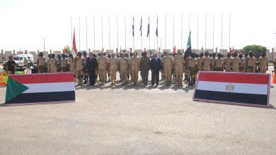 """صورة انطلاق فعاليات التدريب المصرى السودانى المشترك """"حارس الجنوب 1"""""""