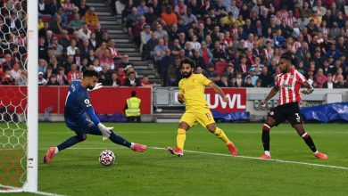 صورة محمد صلاح أسرع لاعب يسجل الهدف رقم 100 في تاريخ ليفربول الإنجليزي