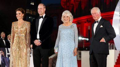 صورة حضور ملكي بريطاني في العرض الأول لأحدث أفلام جيمس بوند في لندن