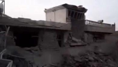 صورة فيديو نشرته طالبان تدعي أنه لتدمير قاعدتين لداعش في وسط أفغانستان