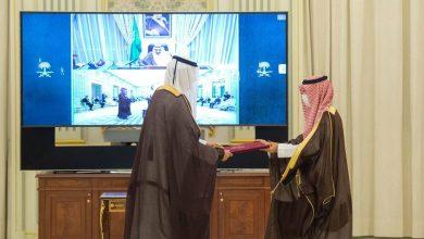 صورة أول سفير لقطر في السعودية منذ 2017 يسلم أوراق اعتماده للملك سلمان