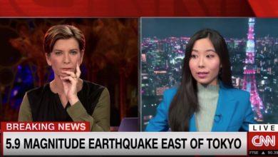 صورة زلزال بقوة 5.9 درجة يضرب اليابان ومراسلة CNN: الأسوأ منذ انتقالي لطوكيو