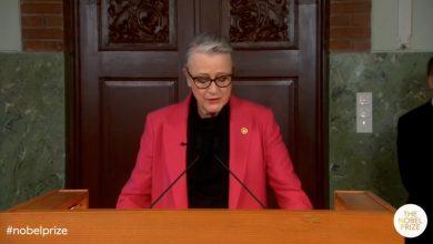صورة شاهد لحظة الإعلان عن الفائز بجائزة نوبل للسلام لهذا لعام 2021
