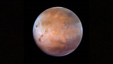 """صورة """"مسبار الأمل"""" يقدم اكتشافات جديدة عن المريخ.. ومحمد بن راشد: بدأنا مشاركة البيانات"""