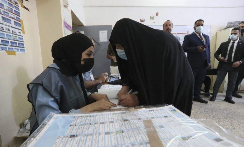 """العراقيون-يصوتون-في-الانتخابات-البرلمانية.-والكاظمي-يدعو-إلى-""""تغيير-الواقع"""""""