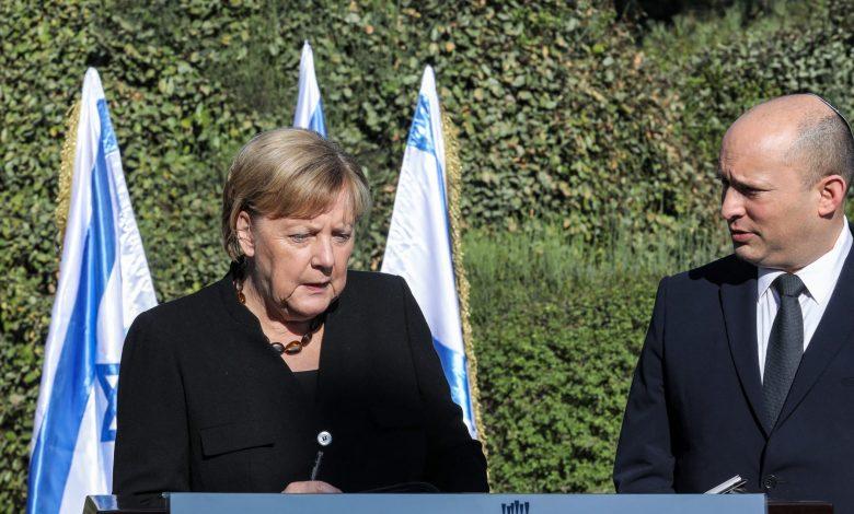 """بعد-حديث-ميركل-عن-إقامة-دولة-فلسطينية.-رئيس-وزراء-إسرائيل:-ستكون-دولة-""""إرهاب"""""""