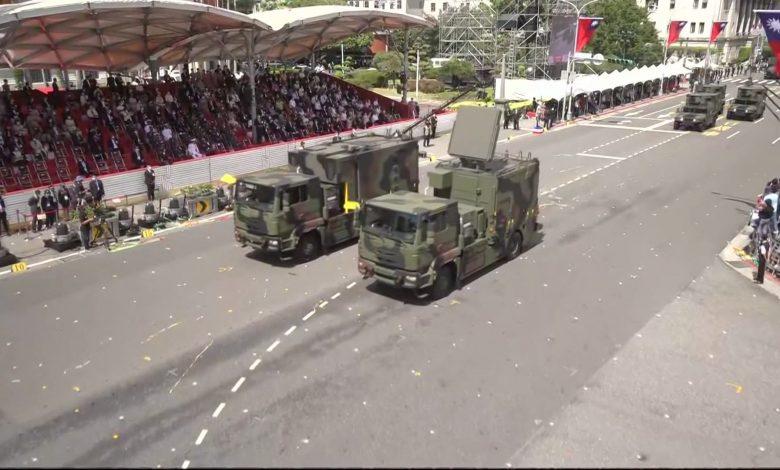 وسط-تصاعد-التوترات-مع-الصين.-تايوان-تستعرض-أسلحة-محلية-الصنع-خلال-مراسم-اليوم-الوطني